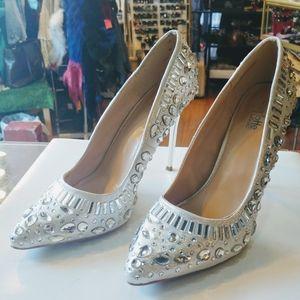 Charlotte Russe rhinestones studded stilettos